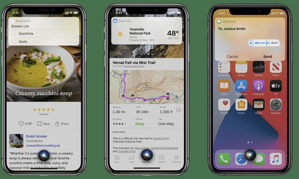 iOS 14 ile gelen başlıca Siri yenilikleri