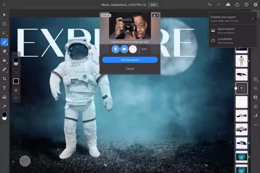 adobe photoshop illustrator ipad canlı yayın