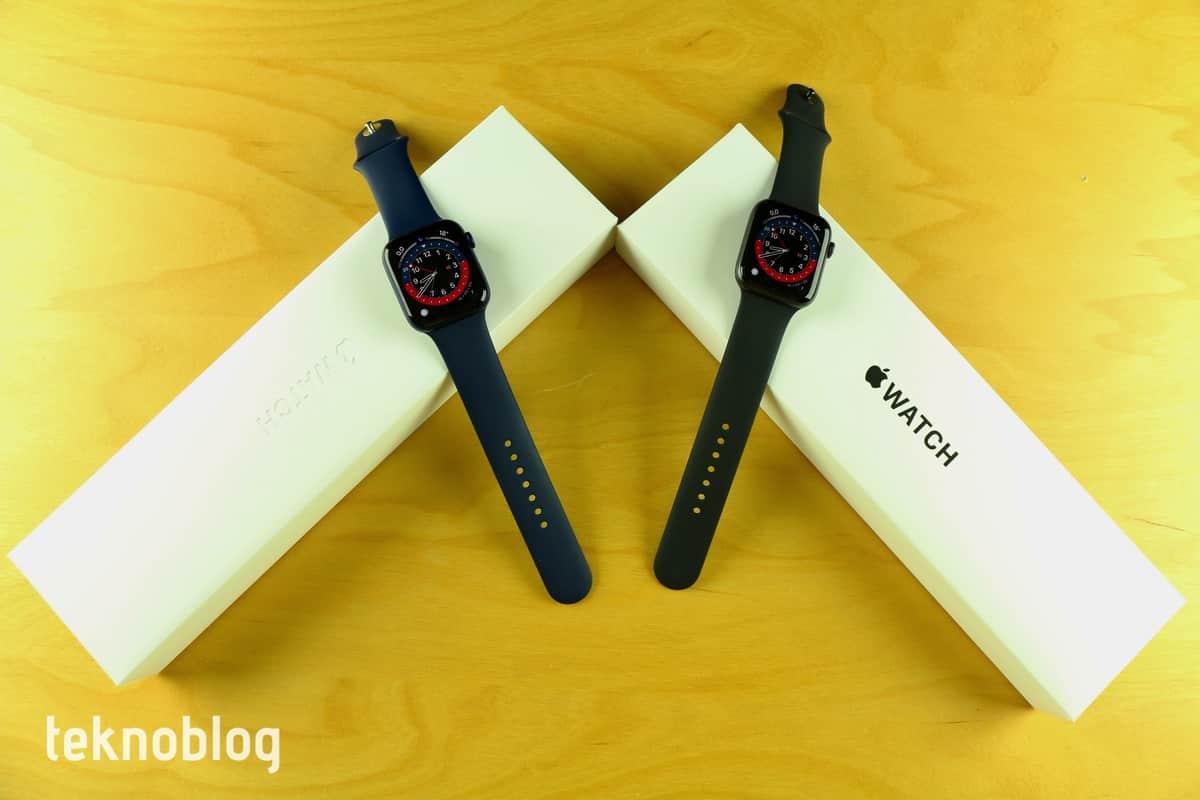 apple watch series 6 ve apple watch se kutu açılımı