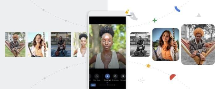 google fotoğraflar android portre ışığı