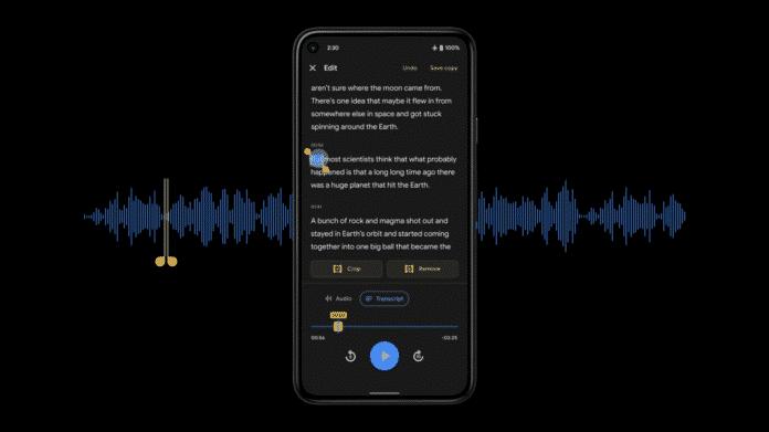 Google Pixel telefonları için yeni ses kaydedici uygulaması