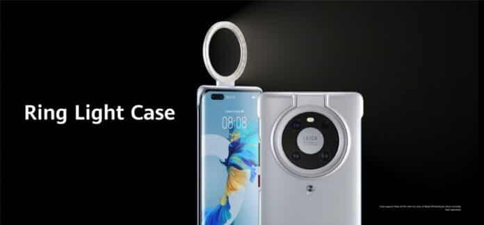 huawei mate 40 ring light case