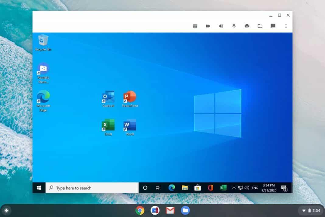 parallels desktop windows chrome