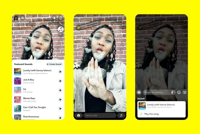 snapchat müzik ekleme