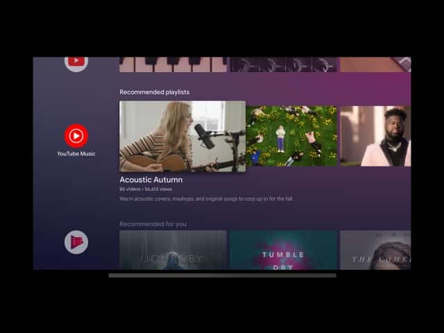 youtube music tv