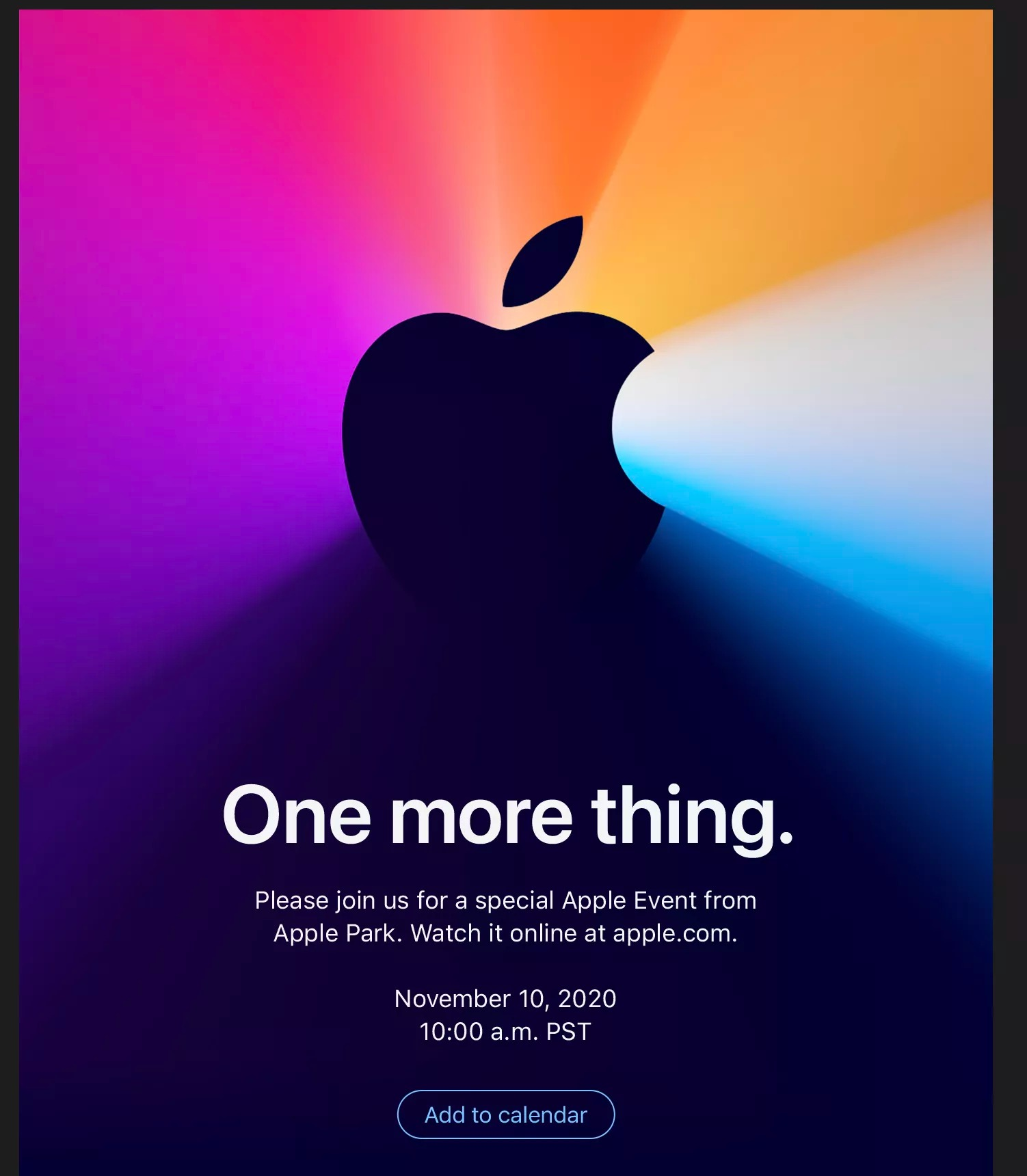 apple mac one more thing