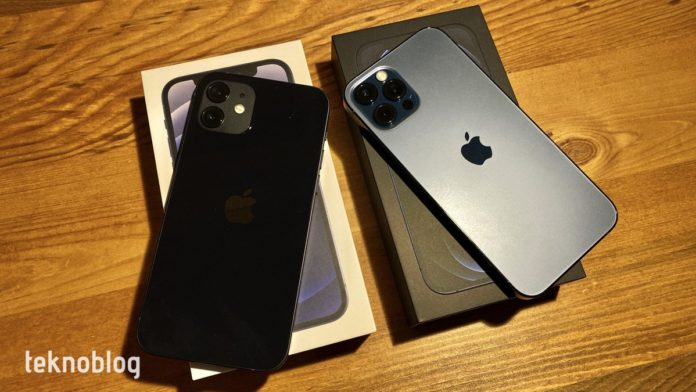 iphone 12 ve iphone 12 pro kutu açılımı