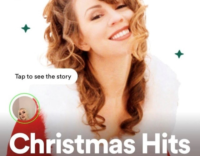spotify hikaye christmas hits