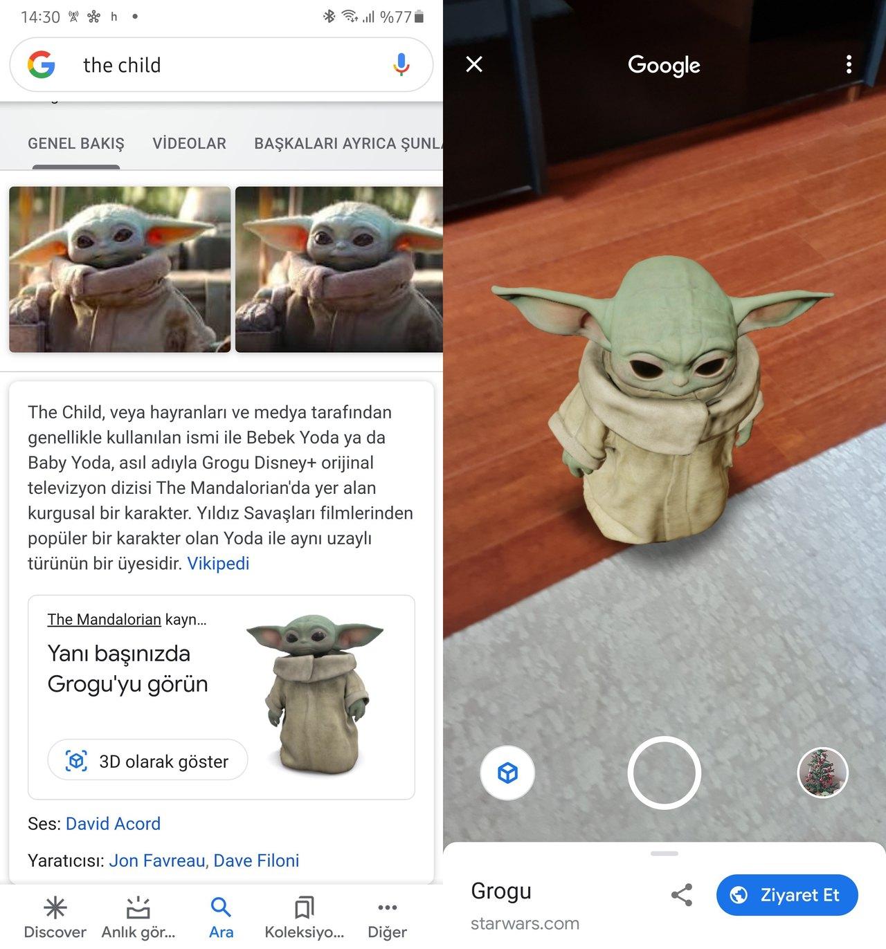 baby yoda grogu google