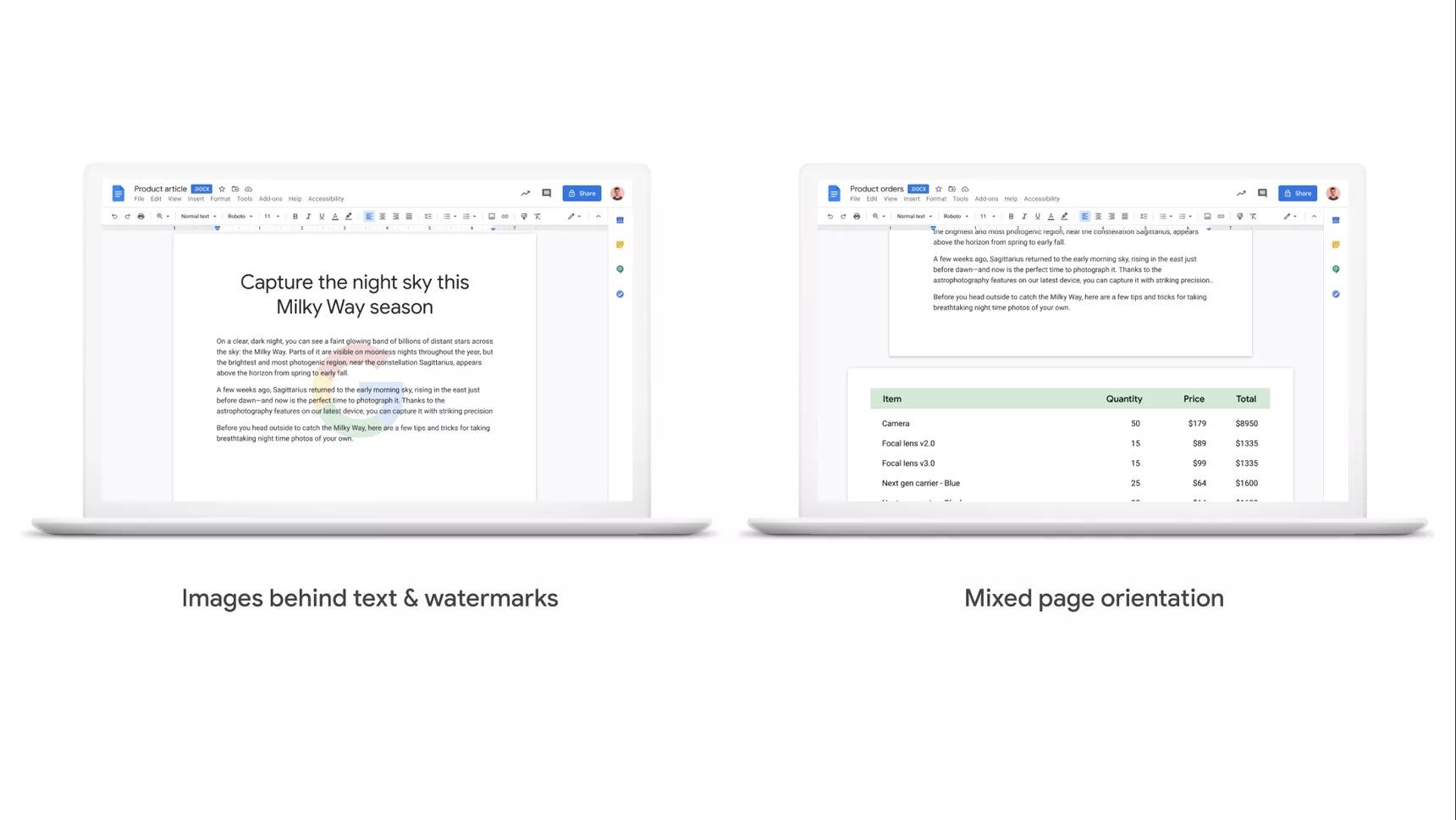 gmail dokümanlar sayfa düzenleme