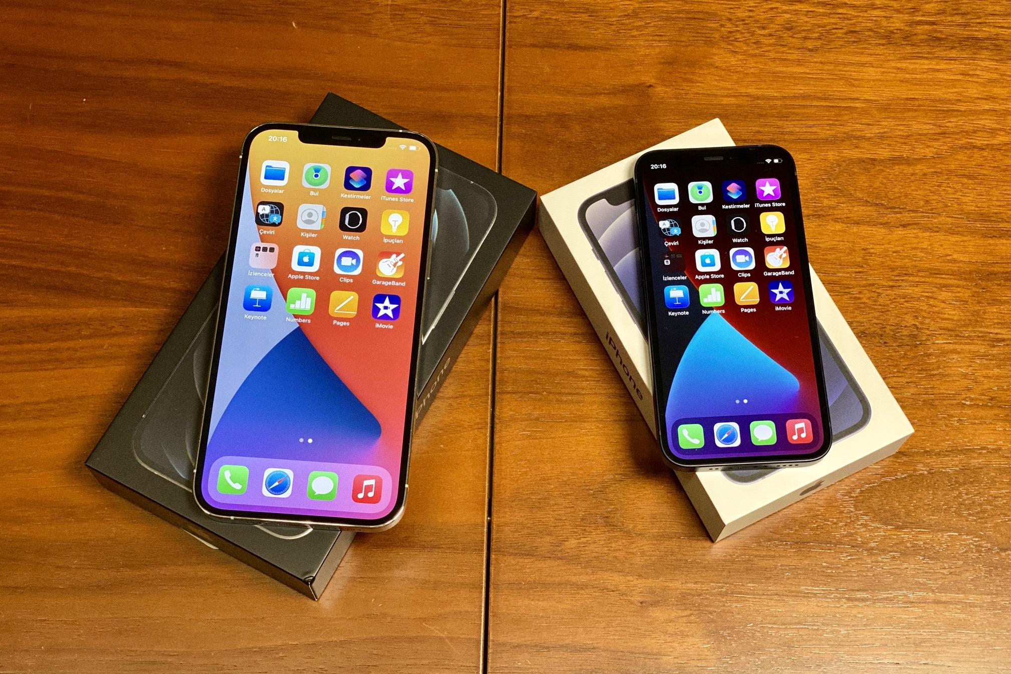 iphone 12 mini ve iphone 12 pro max kutu açılımı