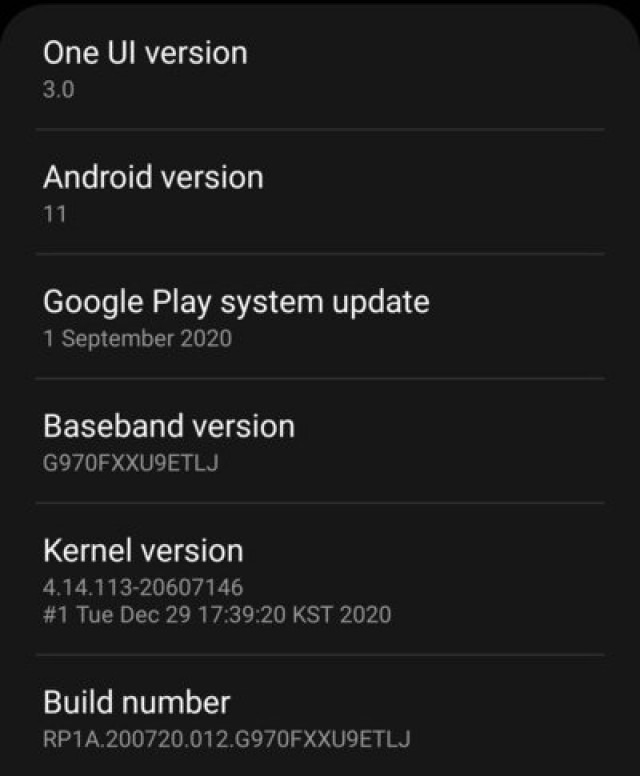 galaxy s10 android 11