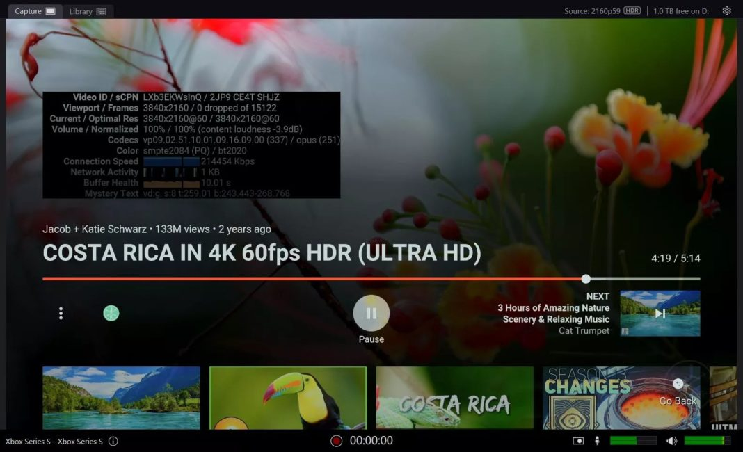 youtube hdr xbox