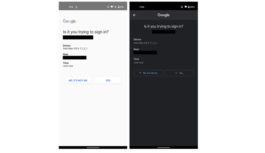 android çift faktörlü kimlik doğrulama