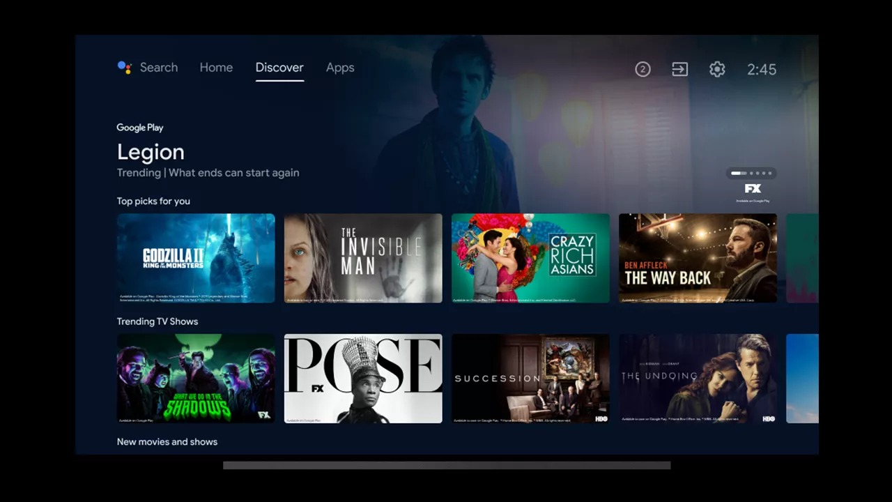 android tv keşfet
