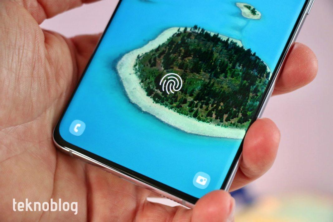 android 12 parmak izi okuyucu