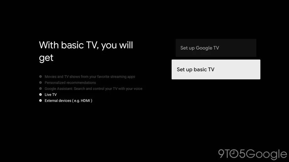 google tv temel mod