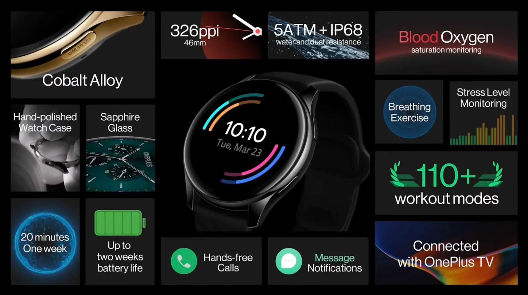 oneplus watch özellikleri