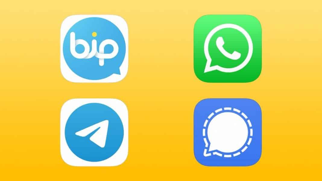 bip whatsapp telegram signal