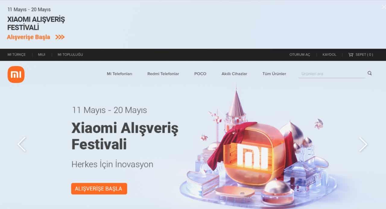 xiaomi türkiye online mağaza