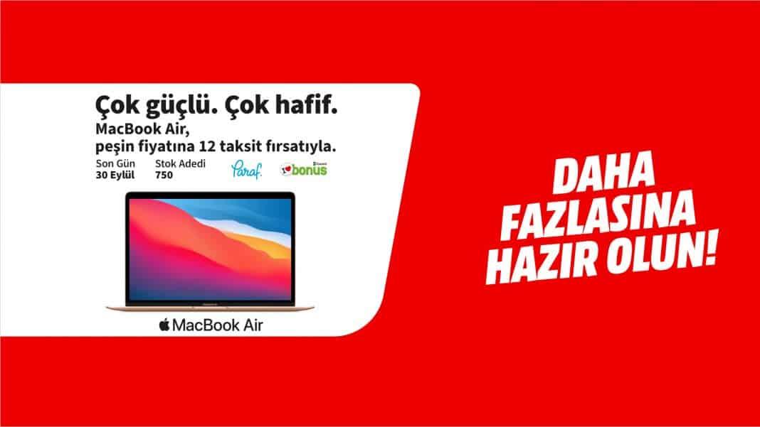 apple mediamarkt macbook air fırsatı
