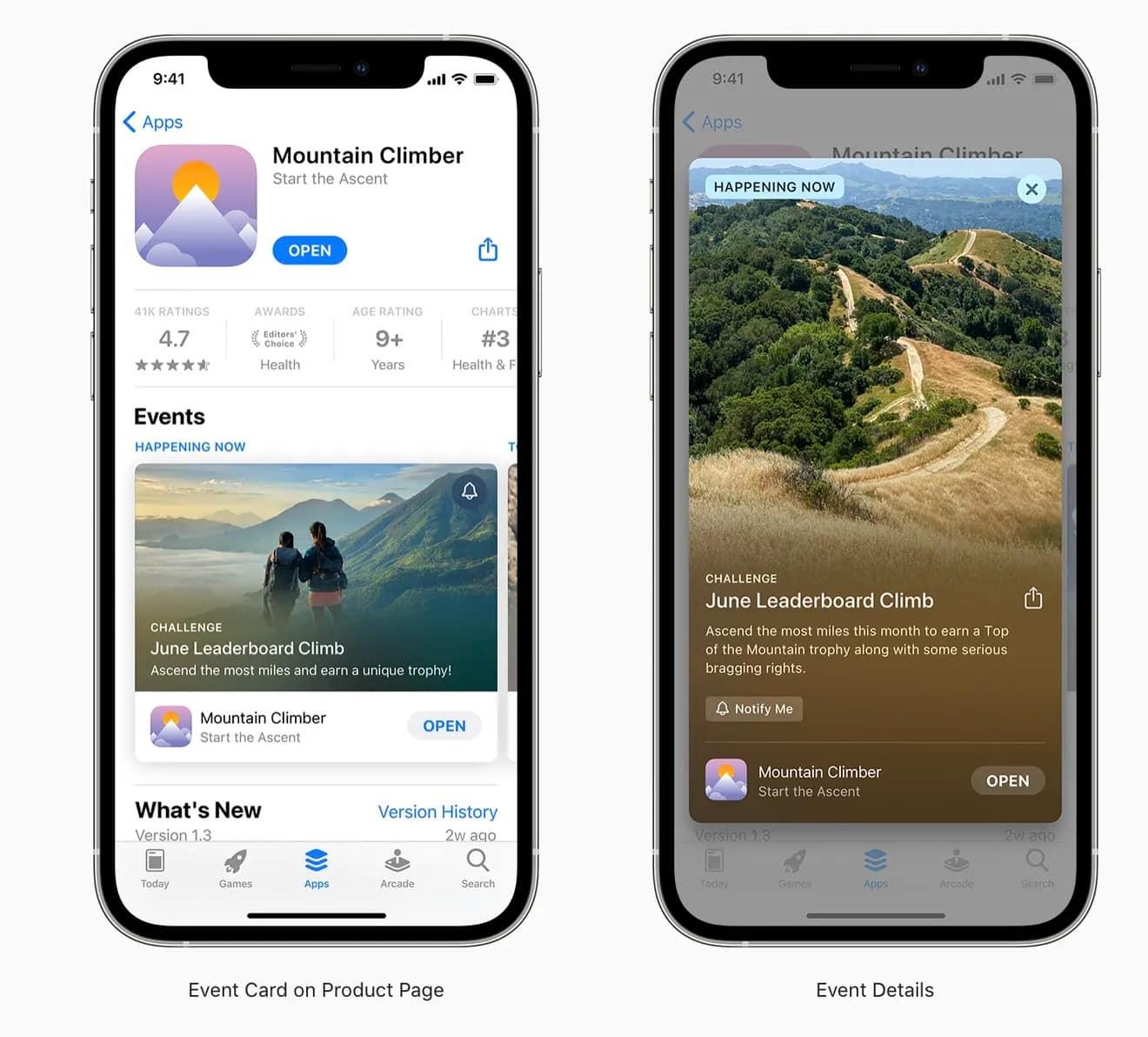 app store uygulama içi etkinlikler