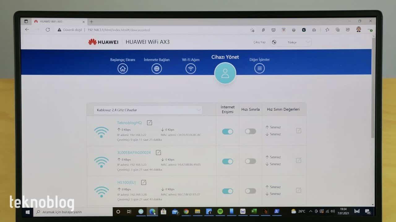huawei wi-fi ax3 inceleme