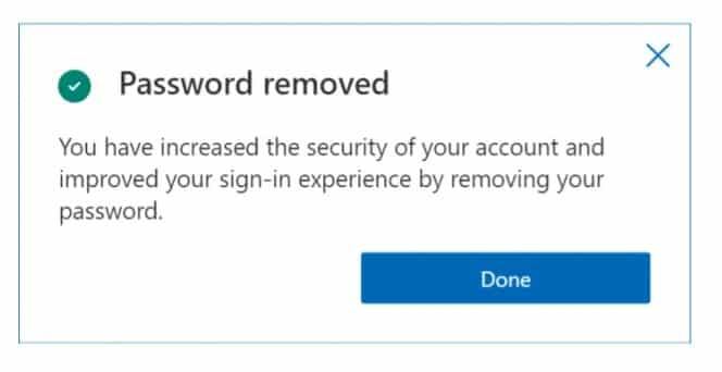 microsoft hesabı şifre kaldırma
