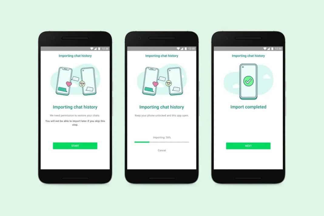 whatsapp iphone samsung android taşıma