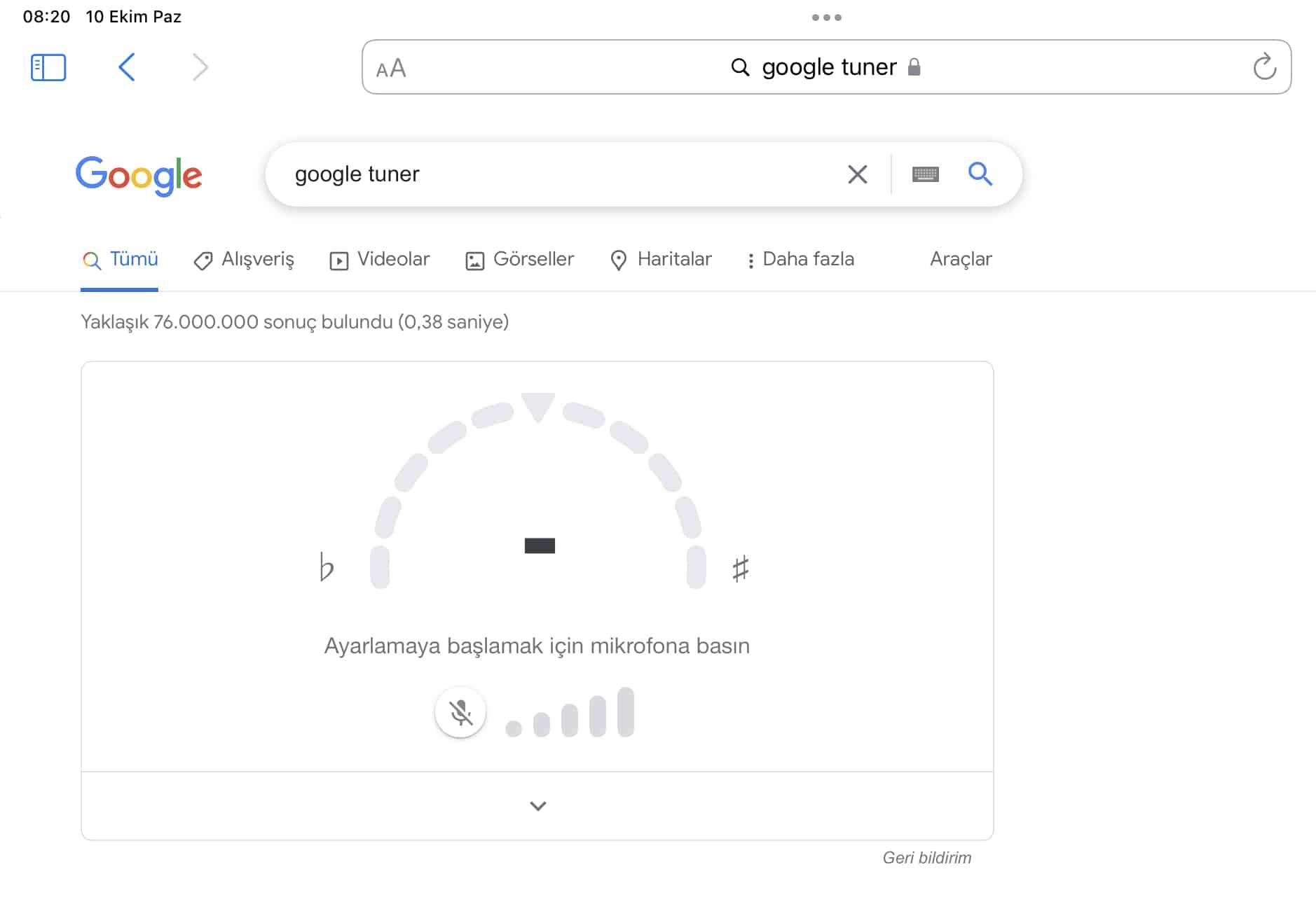 google gitar akort aracı