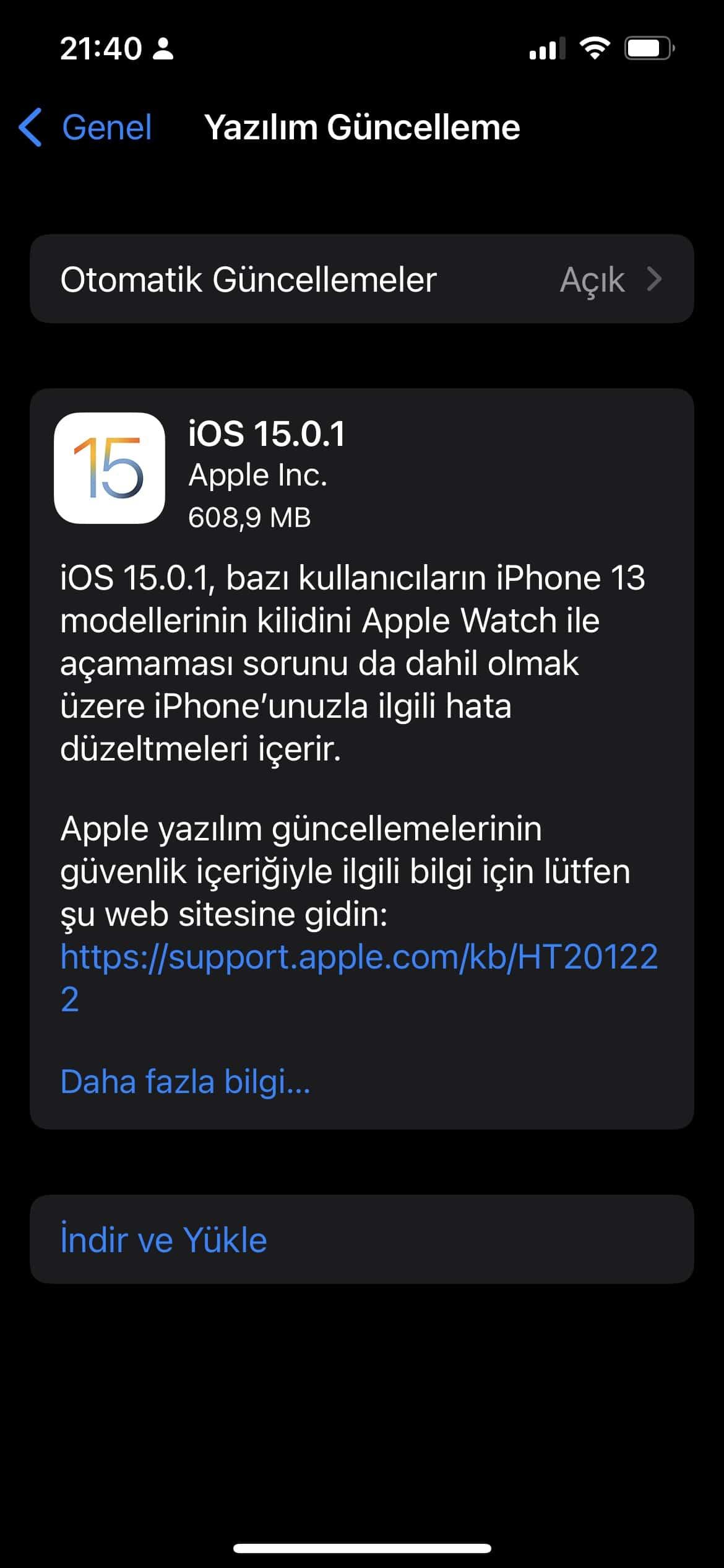 ios 15.0.1